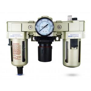 Szűrő dehidratáló szabályozó kenőolaj FRL 3/4 hüvelyk, AC4000-06D levegőre állítva