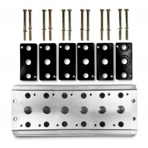 Gyűjtőlemez 6 szelep csatlakoztatásához 1/4 sorozat 4V2 4A csoport szelep kivezetése 5/2 5/3