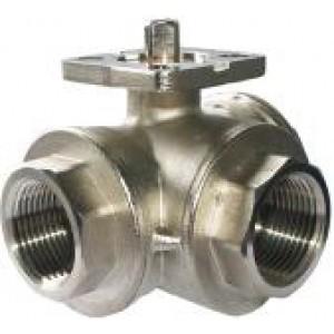 Háromutas gömbcsap, 1 hüvelykes DN25 rögzítőlemez ISO5211