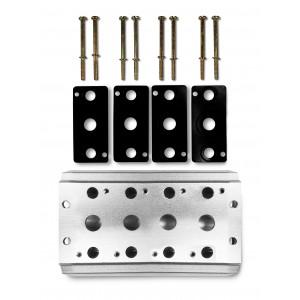 Gyűjtőlemez 4 szelepes 4V2 sorozatú szelep csatlakoztatásához. A 4A csoport szelep kivezetése 5/2 5/3