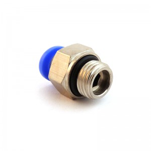 Dugja be a mellbimbó egyenes tömlőjét 10 mm-es menettel, 1/2 hüvelykes PC10-G04