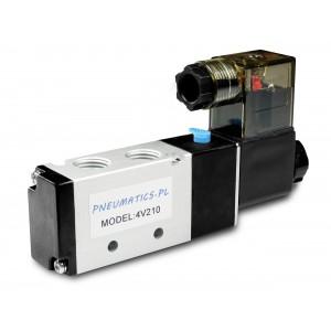 Mágnesszelep pneumatikus hengerekhez 4V210 5/2 1/4 230V 12V 24V