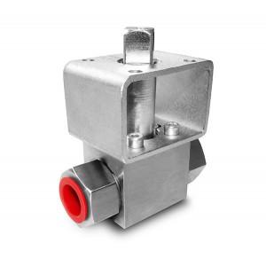 Nagynyomású gömbcsap, 1/2 hüvelykes SS304 HB22 rögzítőlemez ISO5211