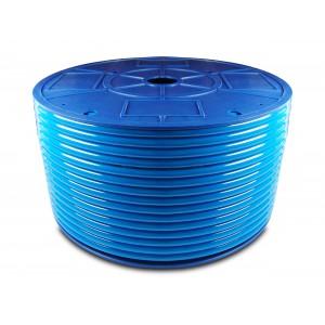 Poliuretán pneumatikus tömlő PU 6/4 mm 1m kék