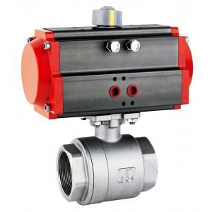 Rozsdamentes acél gömbcsap, 1 1/2 hüvelykes DN40, AT63 pneumatikus szelepmozgatóval