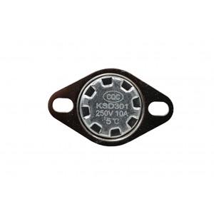 Bimetál termosztát, NC hőmérséklet-érzékelő 5 ℃ 10A 230 VAC típusú KSD301