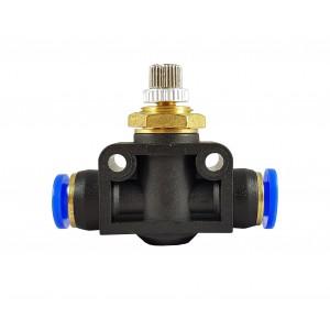 Precíziós áramlásszabályozó fojtószelep tömlő 8mm LSA08