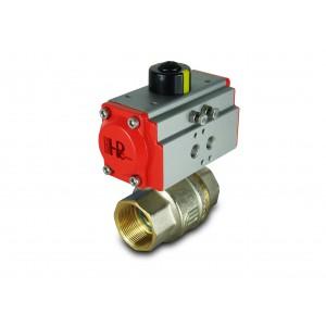 Sárgaréz gömbcsap 1 1/2 hüvelykes DN40, AT52 pneumatikus szelepmozgatóval