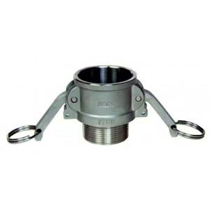 Camlock csatlakozó - B típusú, 1/2 hüvelykes DN15 SS316