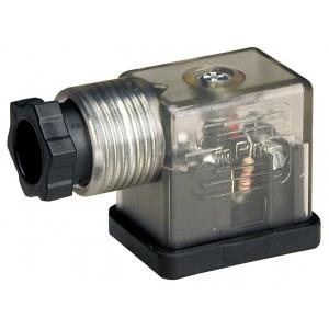 Csatlakoztassa a DIN 43650B mágnesszelephez LED-del - kicsi
