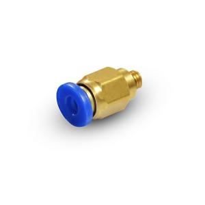 Csatlakoztassa a mellbimbó egyenes tömlőjét 6 mm-es menetes M5 PC06-M05