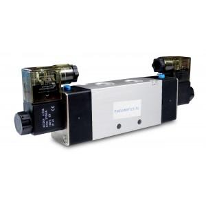 Mágnesszelep 4V420 5/2 bistabil 1/2 hüvelykes pneumatikus hengerekhez 230V vagy 12V, 24V