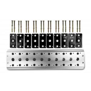 Gyűjtőlemez 10 szelep csatlakoztatásához 1/4 sorozat 4V2 4A csoport szelep kapocs 5/2 5/3