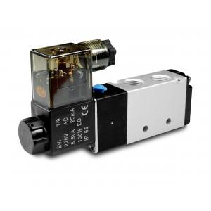 Mágnesszelep 5/2 4V410 1/2 inch pneumatikus hengerekhez 230V vagy 12V, 24V