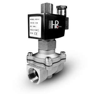 Mágnesszelep nyitva 2N15 NO 1/2 hüvelykes rozsdamentes acél SS304 230V vagy 12V, 24V, 48V