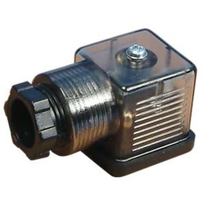 Csatlakoztassa a 18 mm-es DIN 43650 mágnesszelephez LED-lel