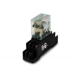 Relé 10A 2x NO / NC egy alaptal a DIN sínre történő felszereléshez