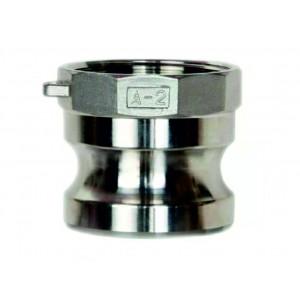 Camlock csatlakozó - A típusú, 1/2 hüvelykes DN15 SS316